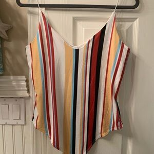 Striped Bodysuit by Gaze. Never worn